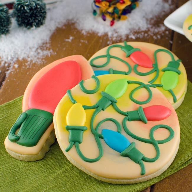 Glowing Christmas Lights Cookies