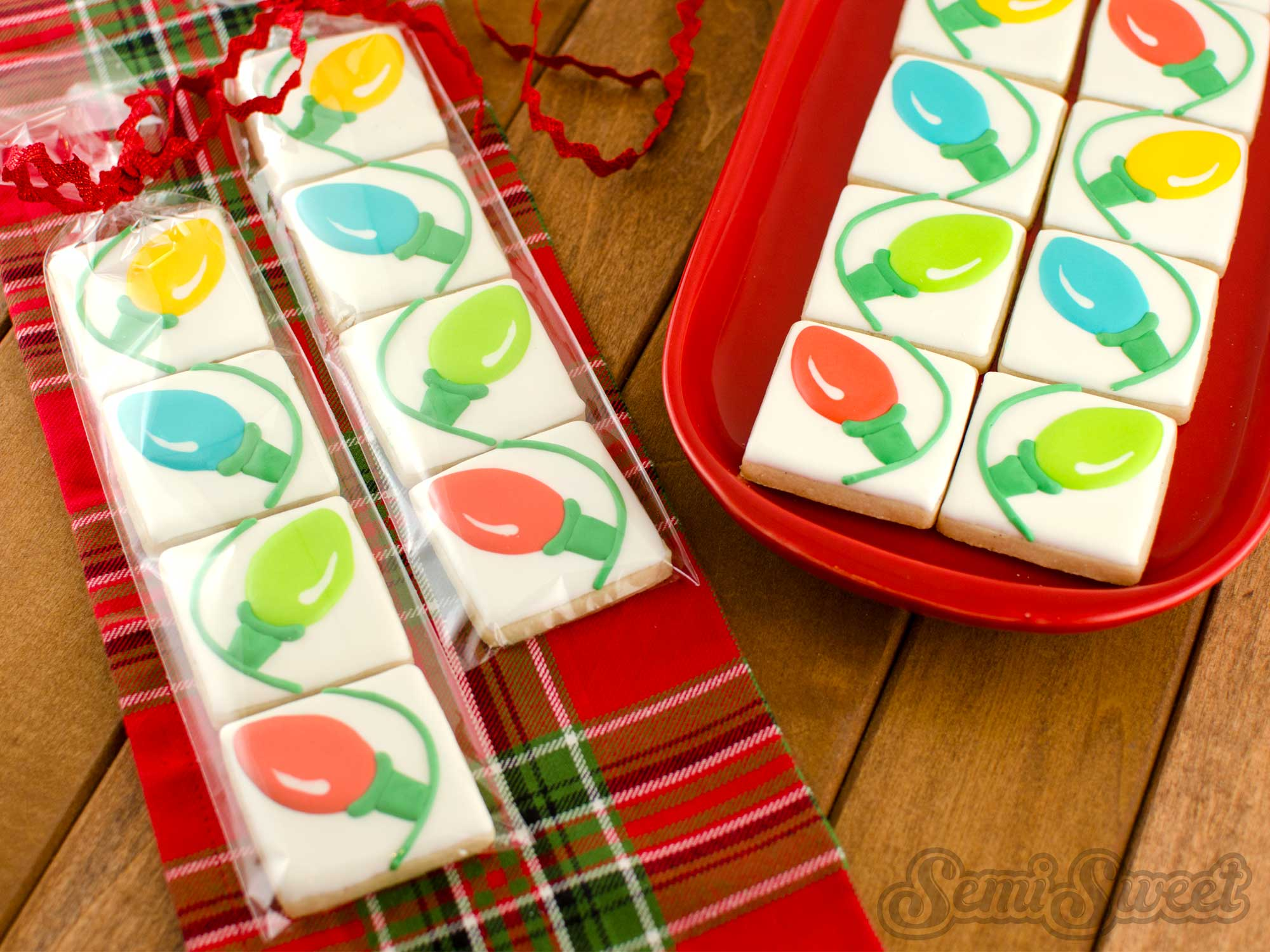 How to Make Connecting Christmas Light Cookies