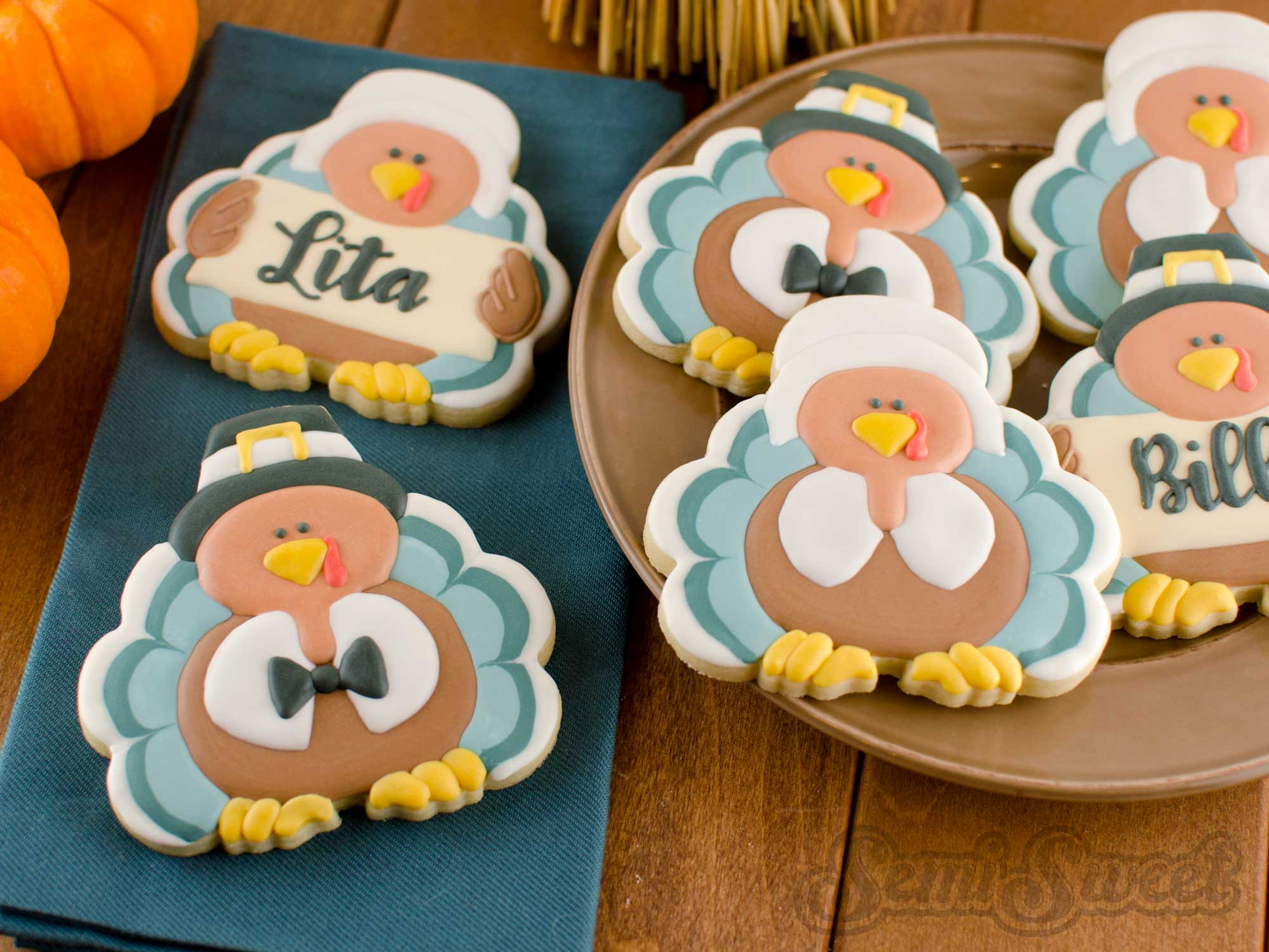 How to Make Pilgrim Turkey Cookies