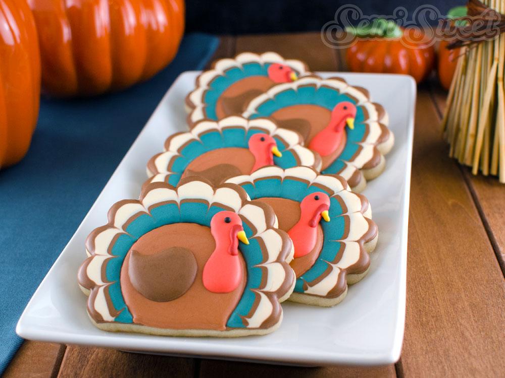 Simple Thanksgiving Turkey Cookies