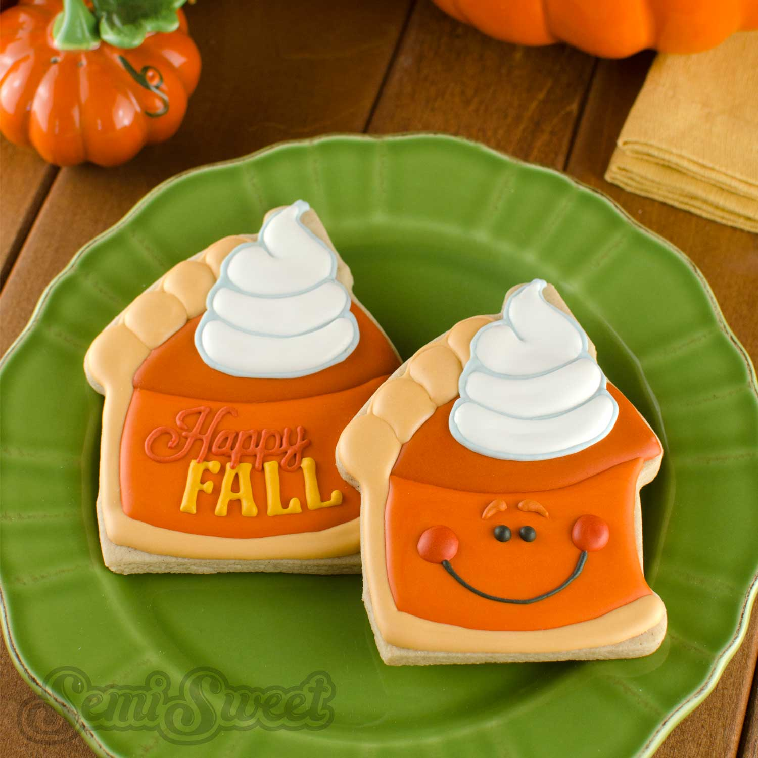 How to Make Pumpkin Pie Slice Cookies