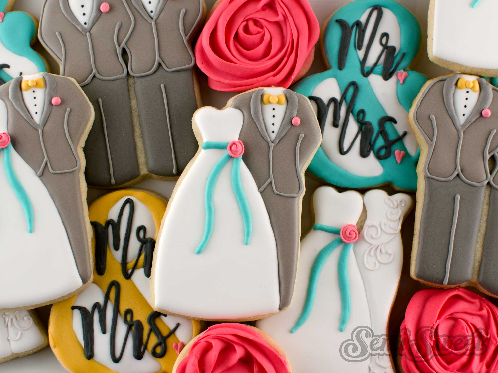 How to Make Wedding Couple Cookies