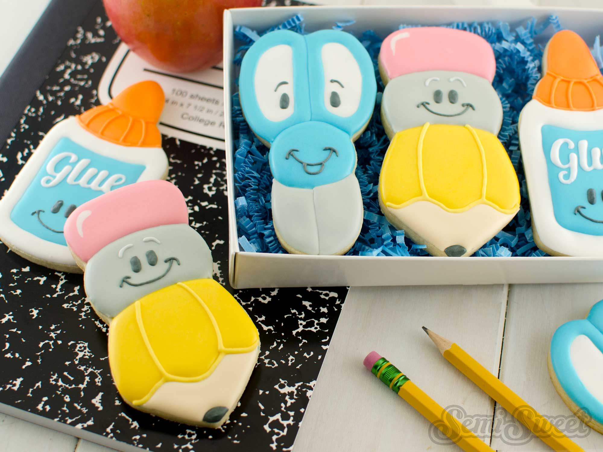 How to Make Decorated Pencil Cookies