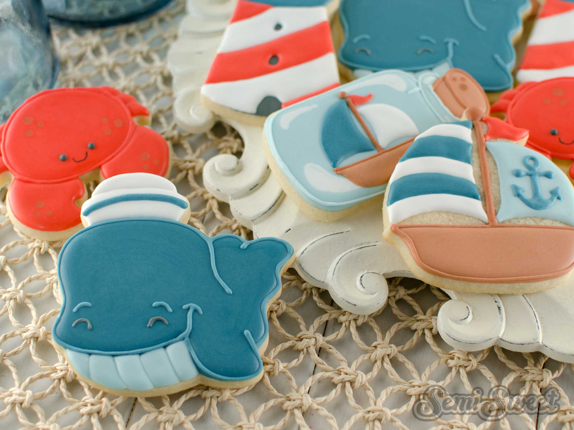 How to Make Nautical Whale Cookies