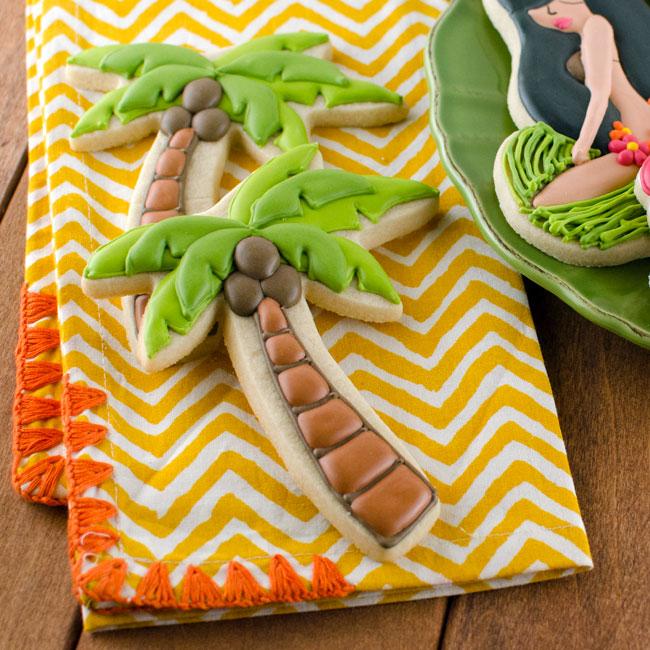 Layered Palm Tree Cookies