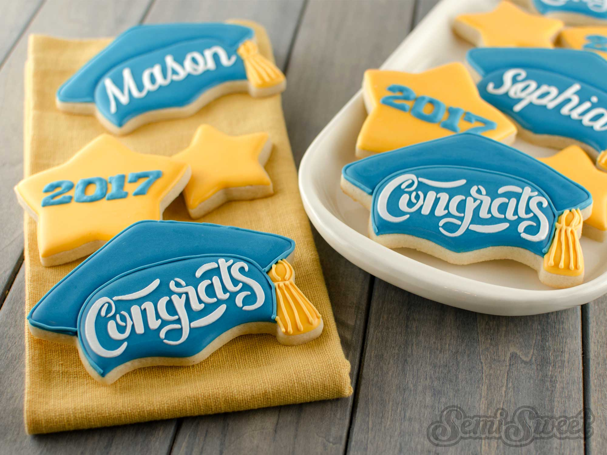 How to Make Graduation Cap Cookies