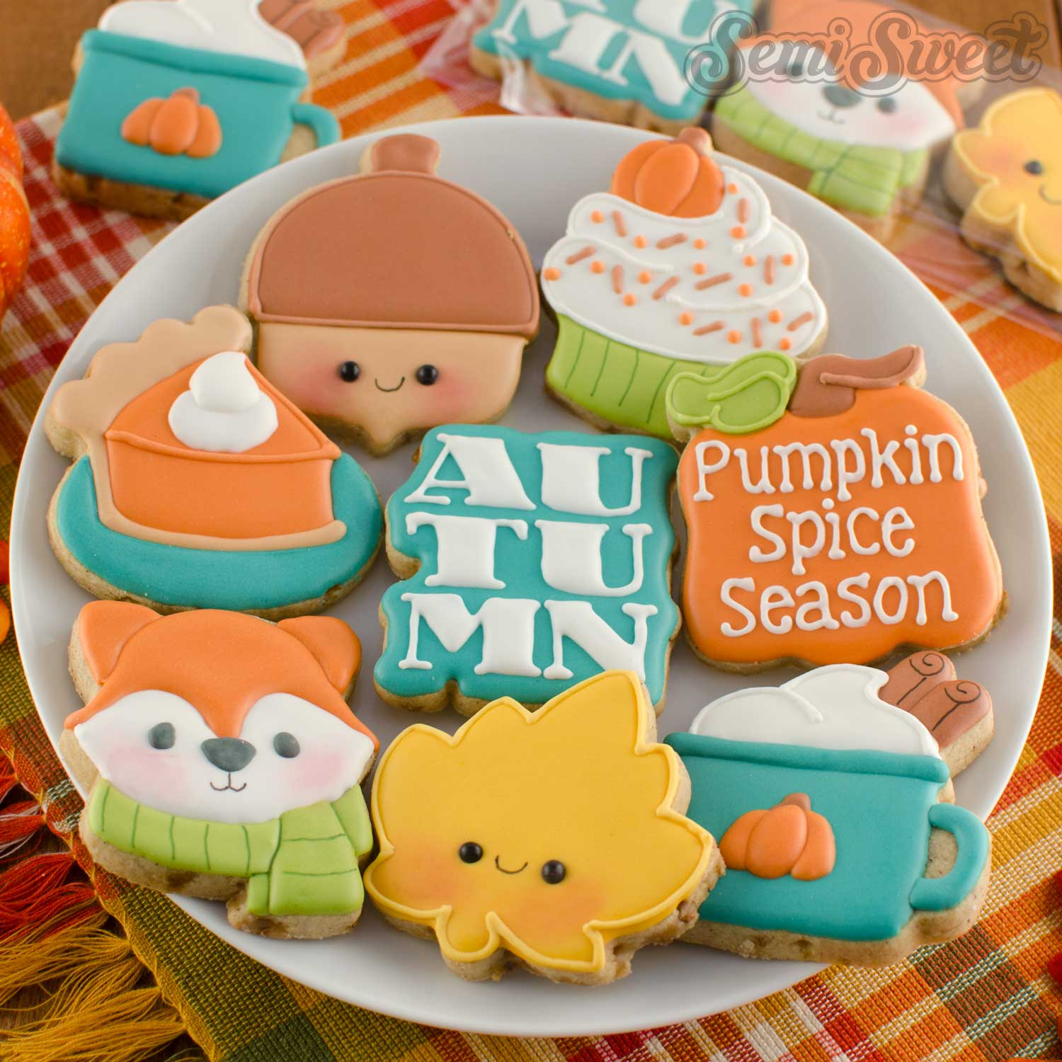 Autumn and Pumpkin Spice Mini Cookie Sets
