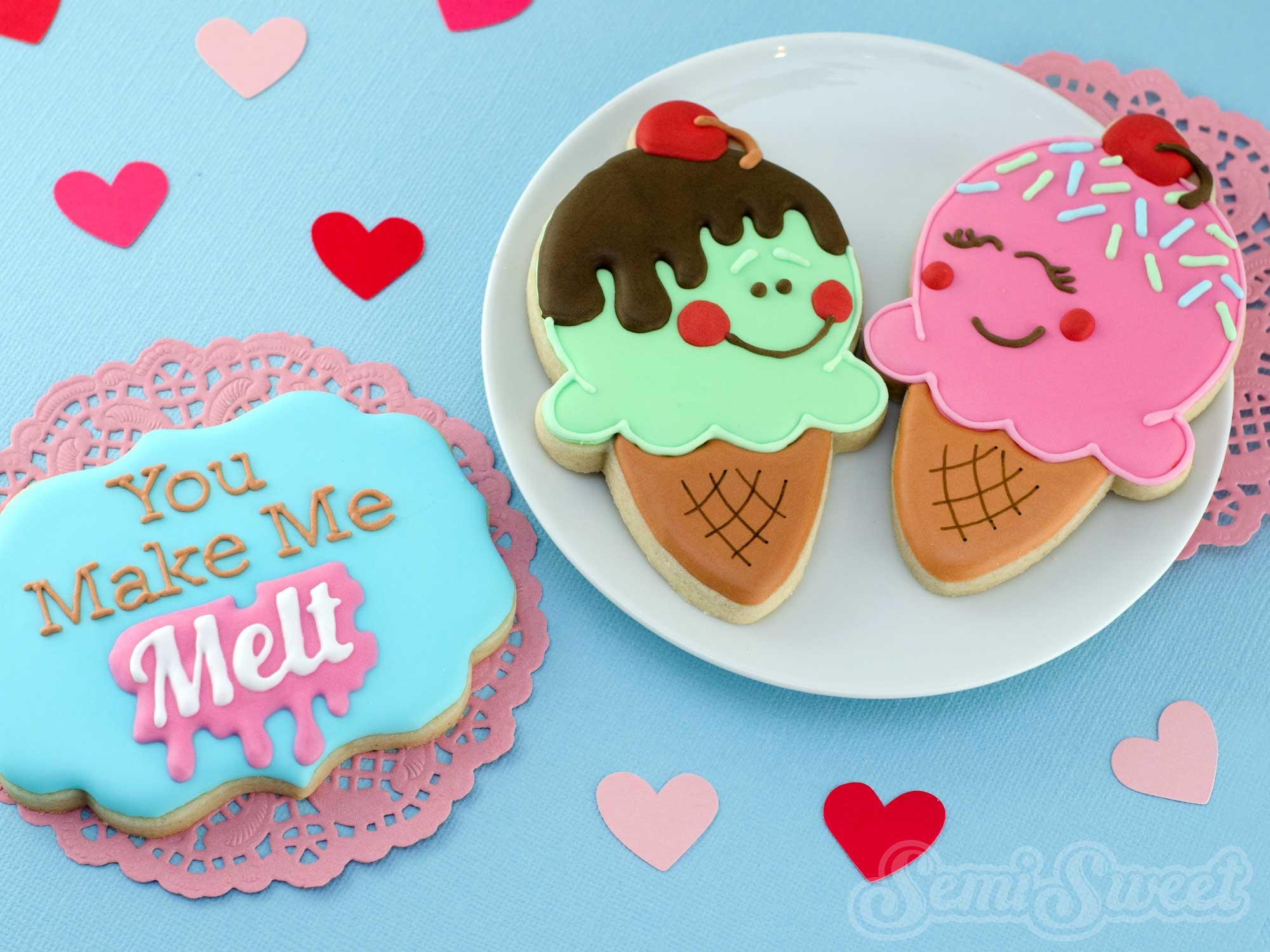 How to Make Cute Ice Cream Cone Cookies