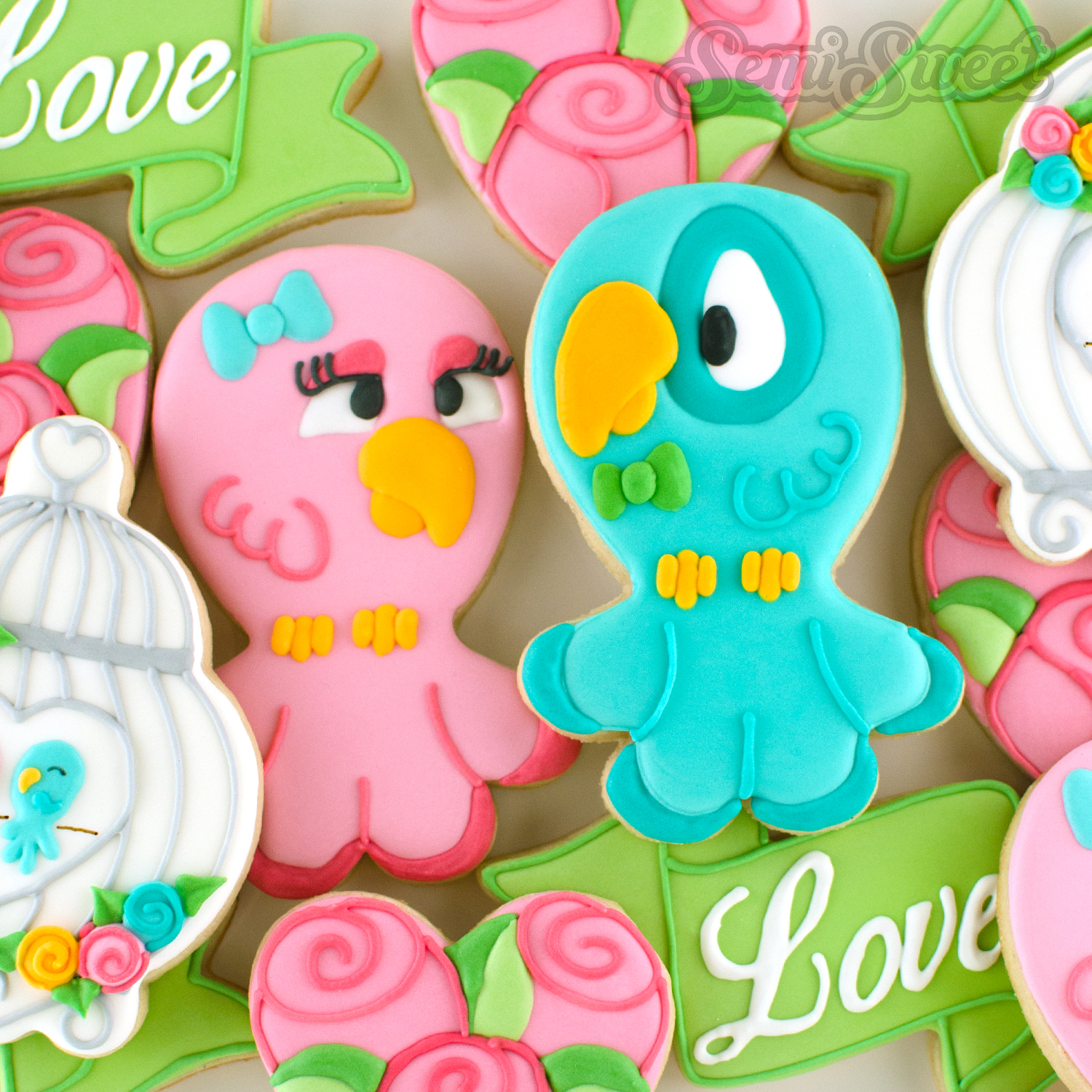 How to Make Love Bird Cookies