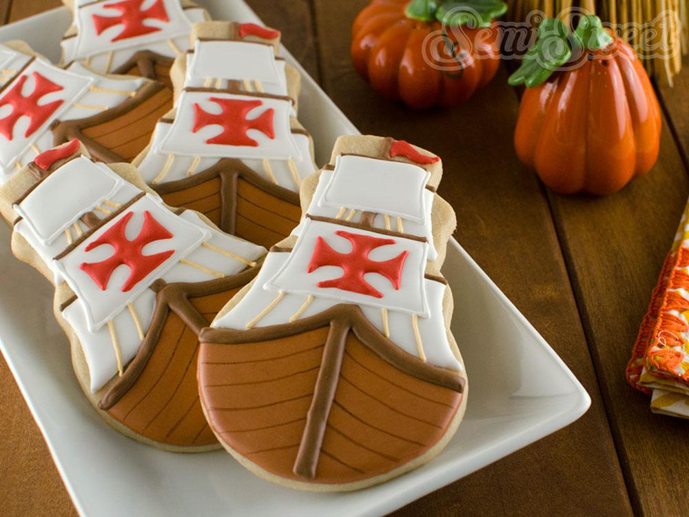 Thanksgiving Mayflower Cookies