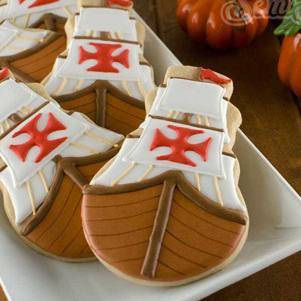 Thanksgiving Mayflower Cookies