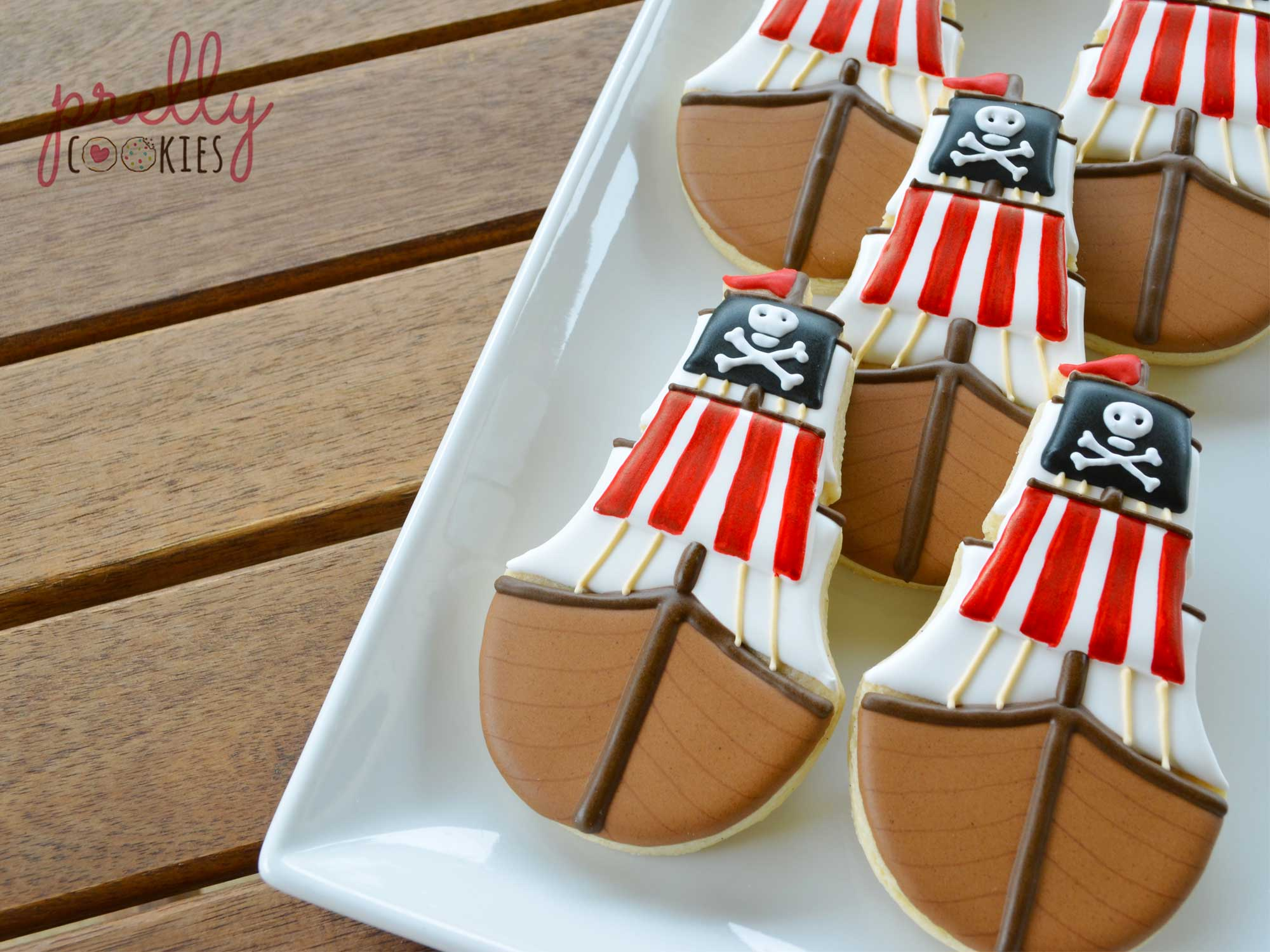 How to Decorate a Pirate Ship Cookie with Prelly Cookies [Guest Post]