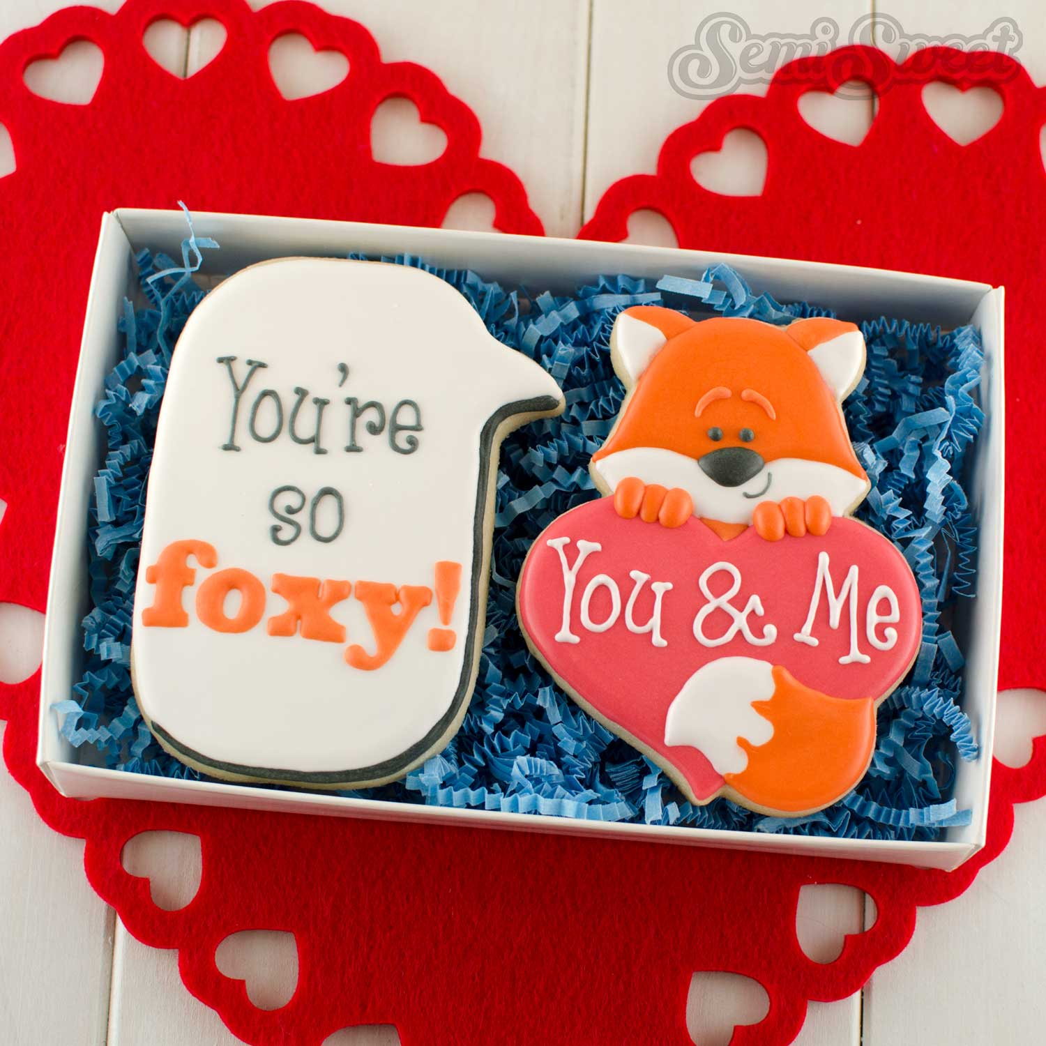 How to Make Fox Heart Cookies