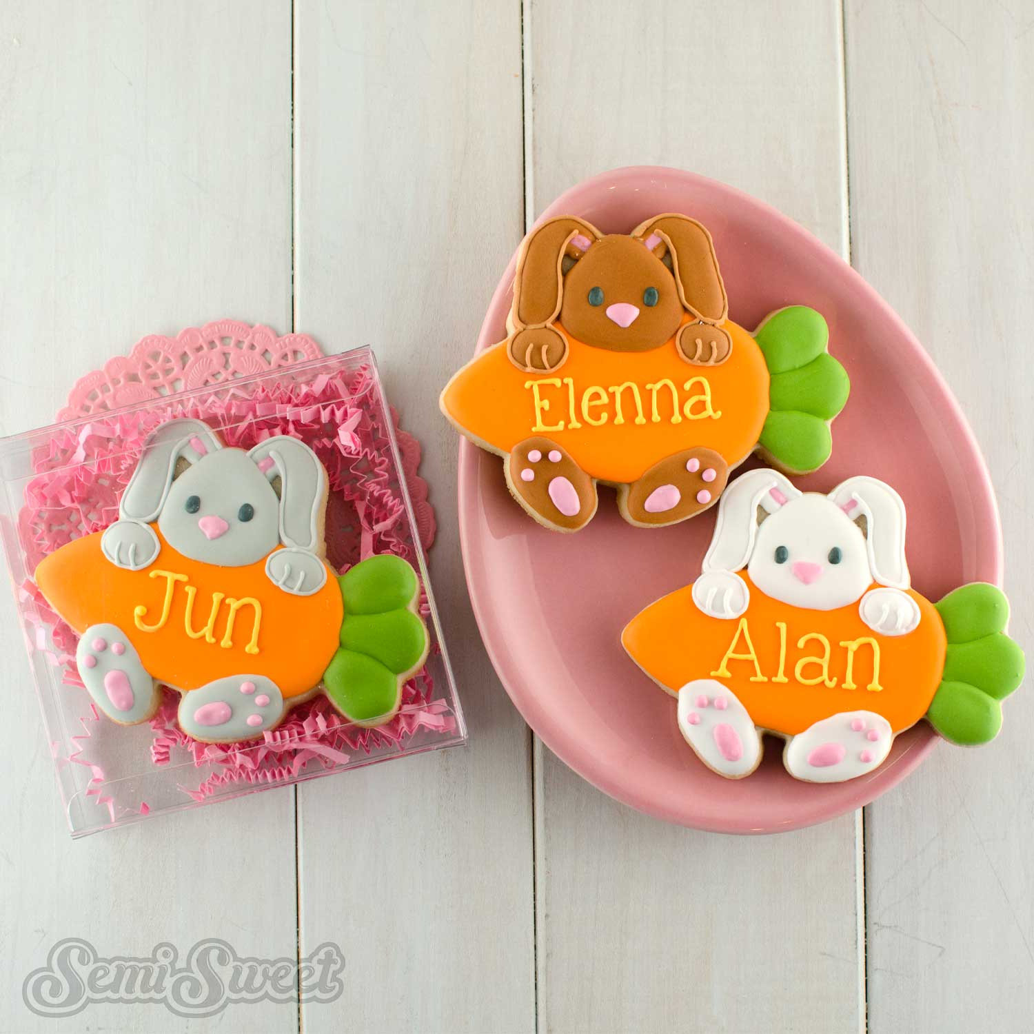 Decorated Easter Cookies and Cutters