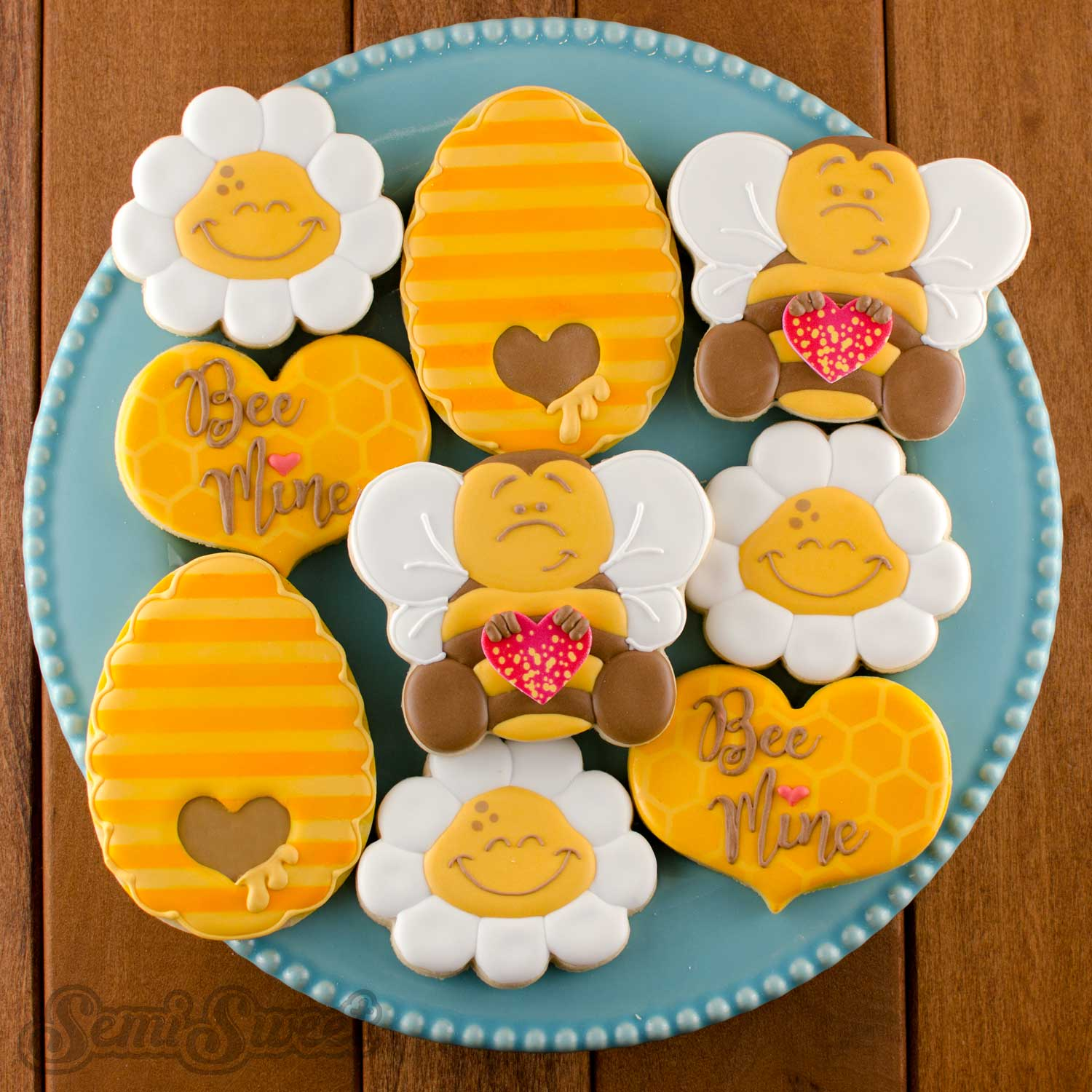 How to Make Valentine Bumble Bee Cookies