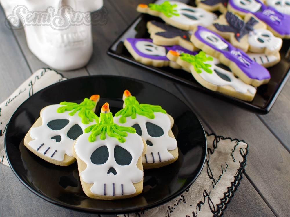 Halloween Skull Candle Cookies