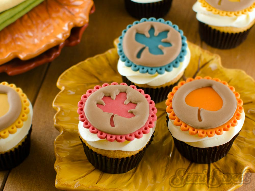 Easy Fall Leaf Cupcake Toppers