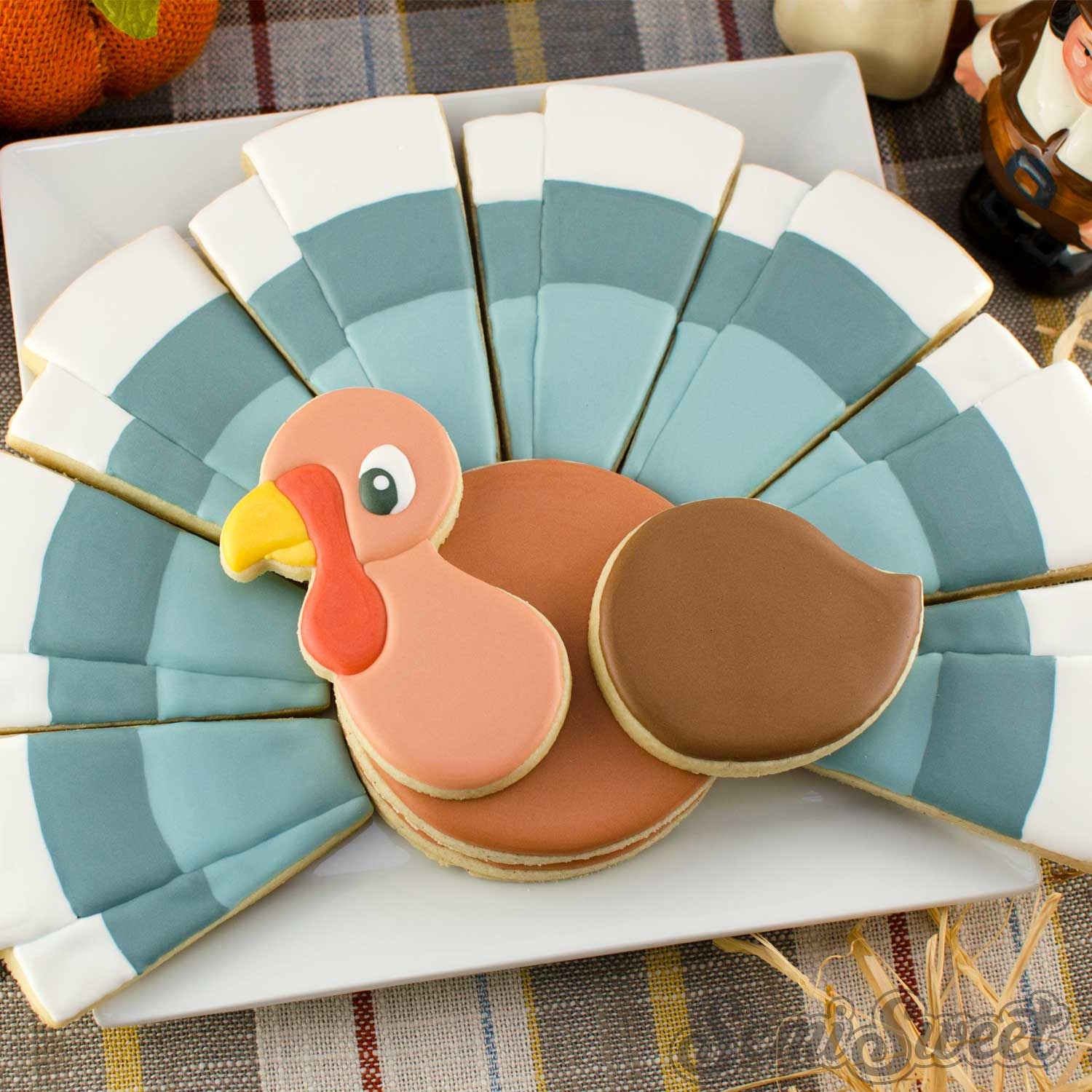 How to Make a Turkey Cookie Platter