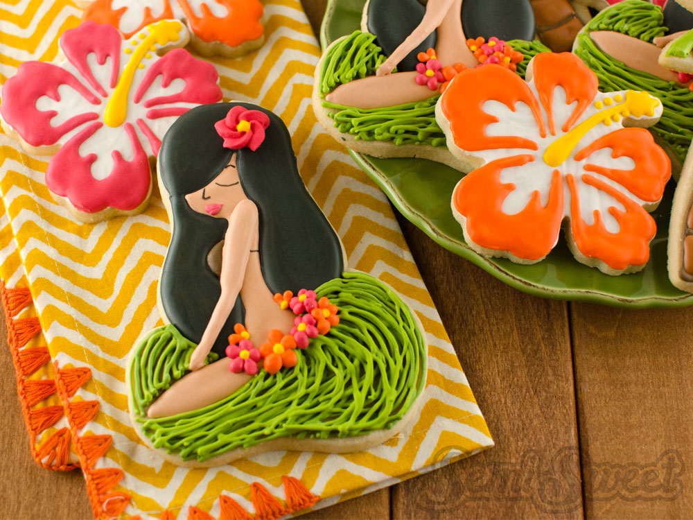 Sitting Hula Girl Cookies