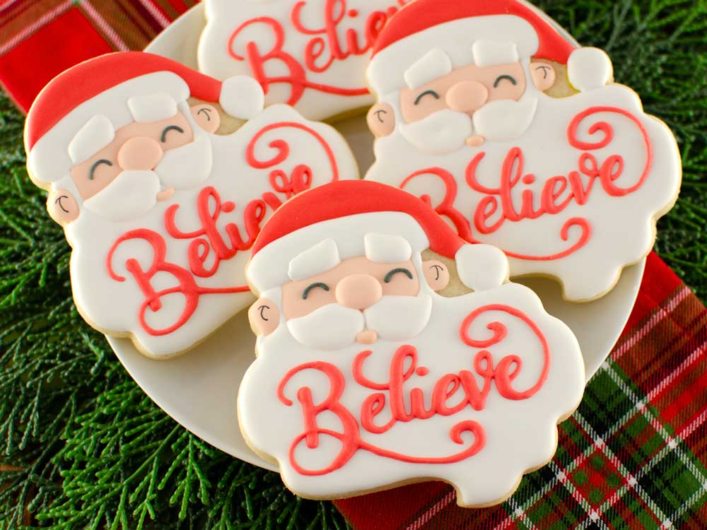How to Make Santa Beard Plaque Cookies