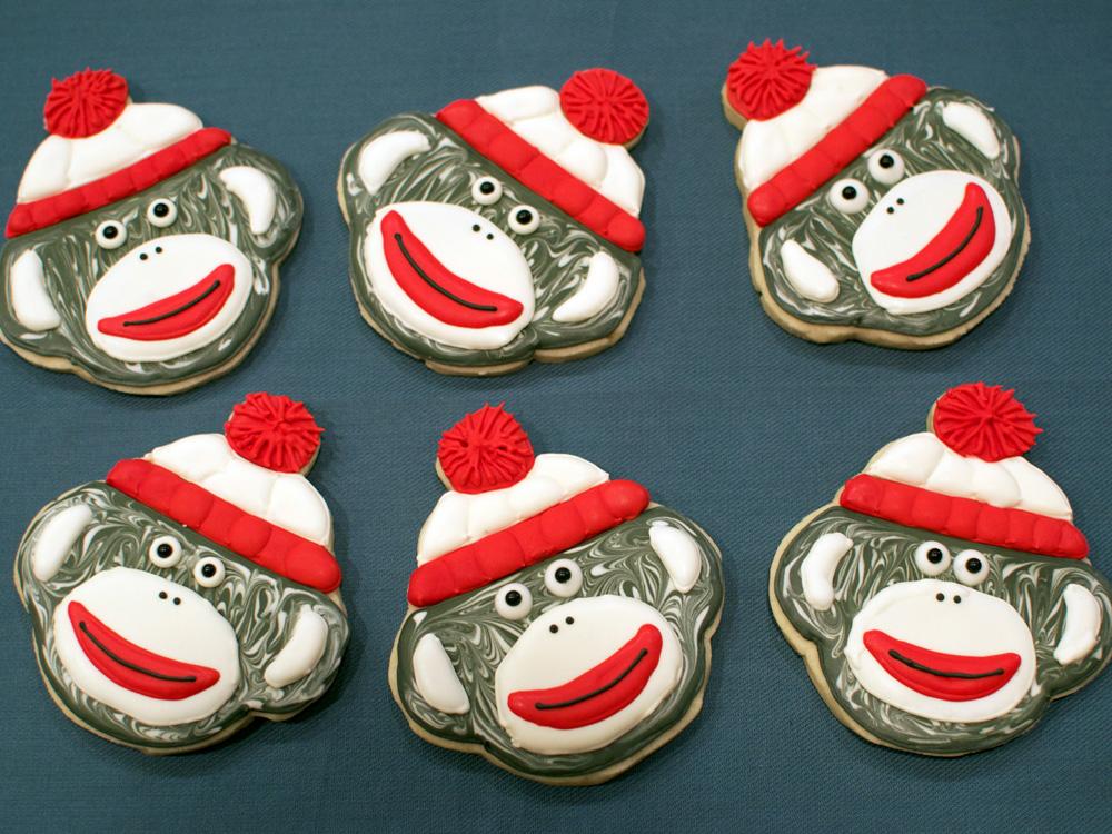Sock Monkey Cookies and Custom Templates