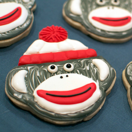Sock Monkey Cookies and Custom Templates