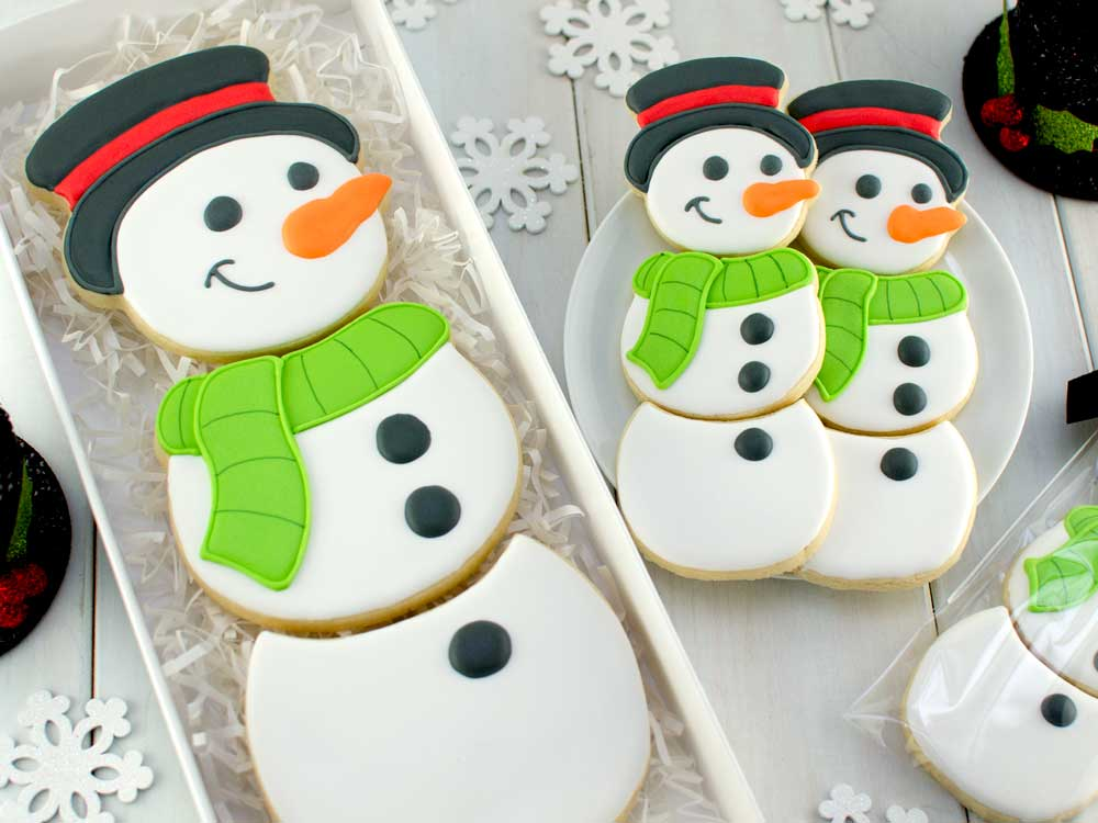 How to Make a Snowman Cookie Set