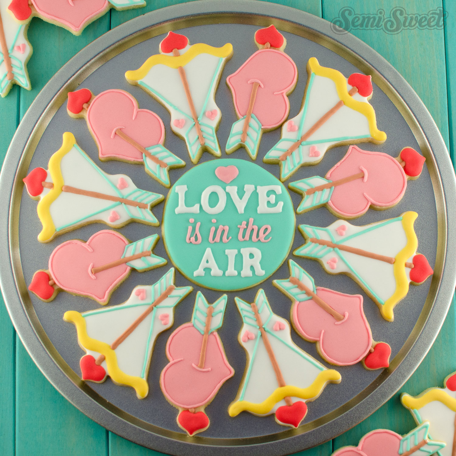 How to Make a Hearts and Arrows Valentine Cookie Platter