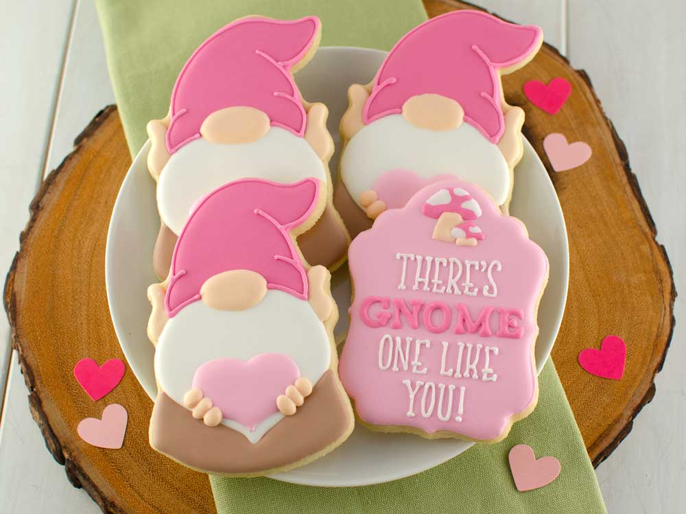 How to Make Valentine Gnome Cookies