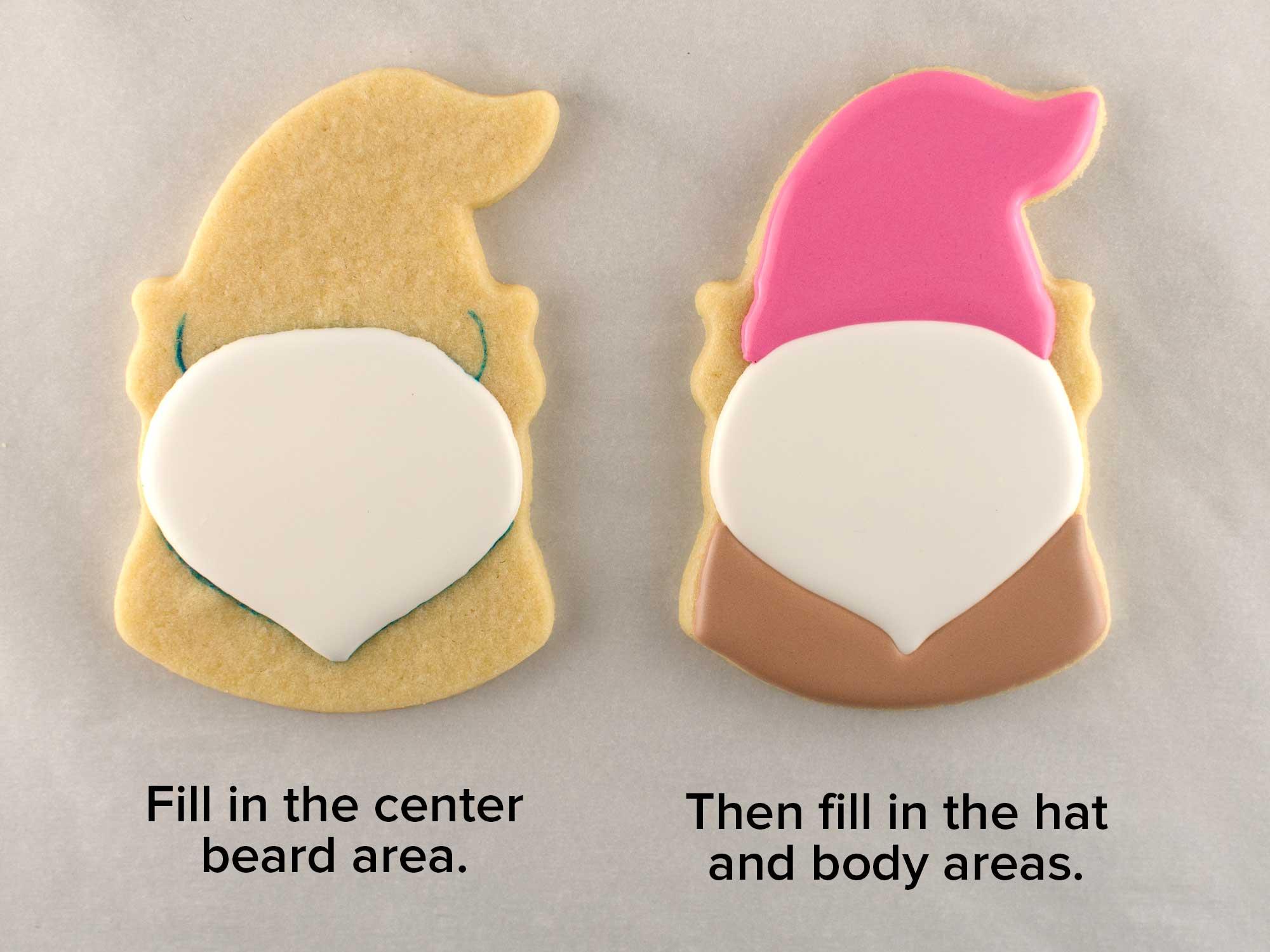 Valentine gnome cookies step 2