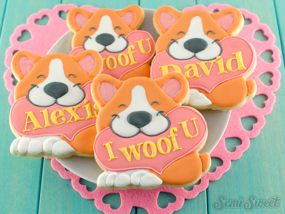 How to Make Valentine Corgi Cookies