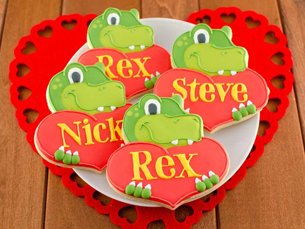 How to Make Dinosaur Heart Cookies