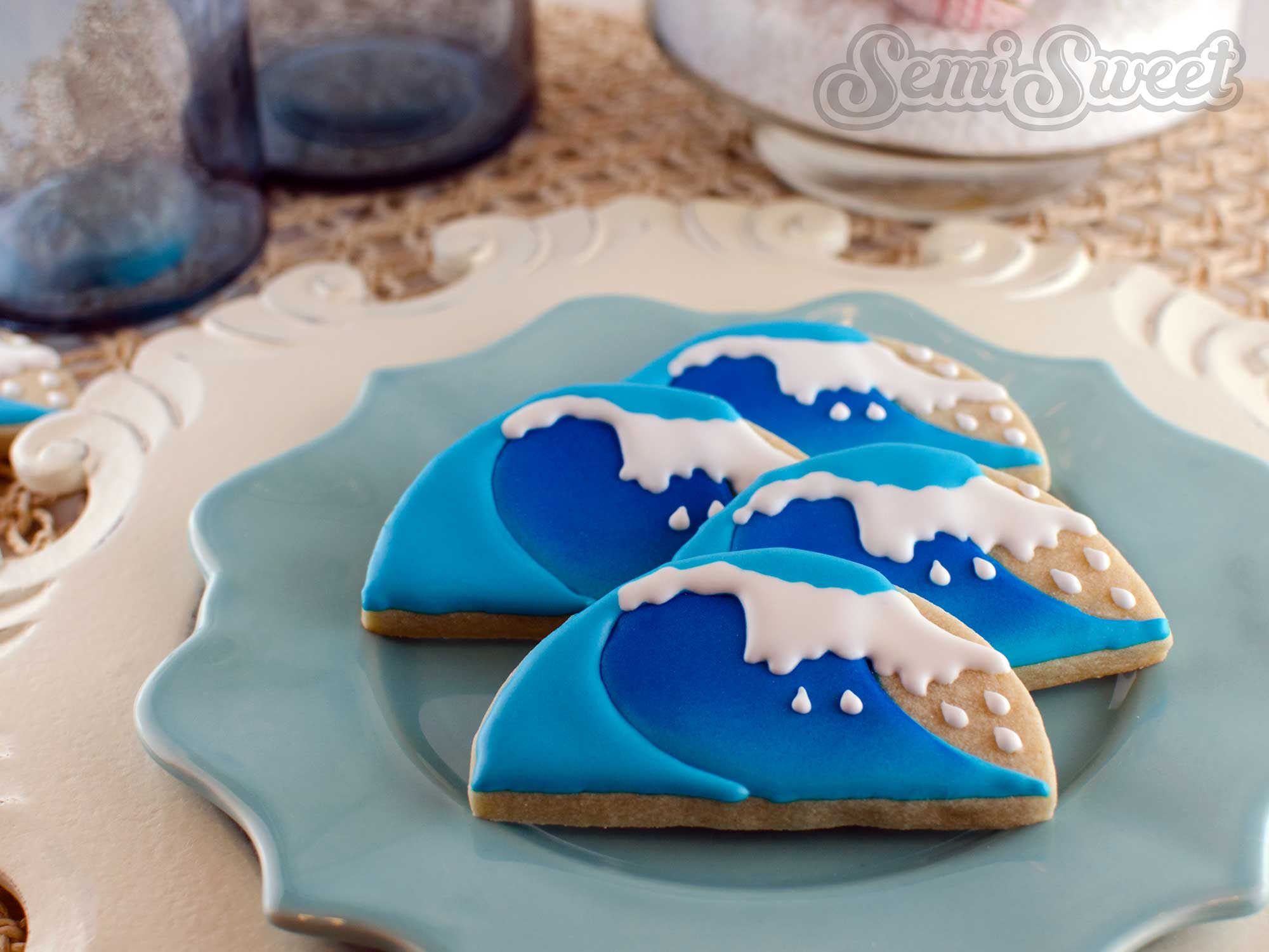 Airbrushed Wave Cookies