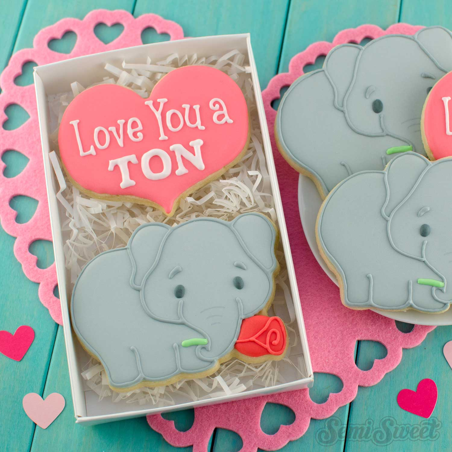 How to Make Valentine Elephant Cookies