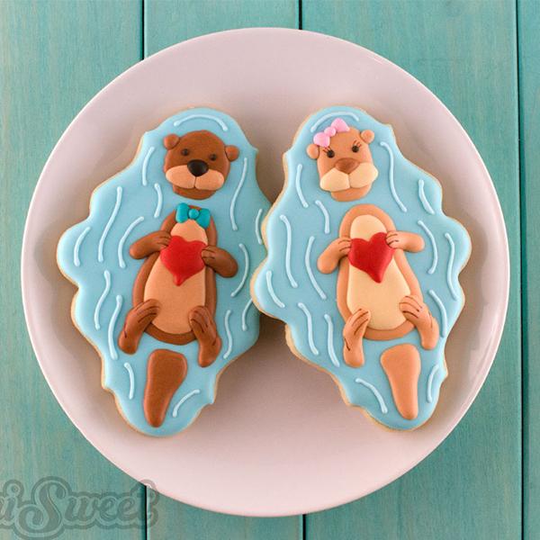 Valentine Otter Cookies