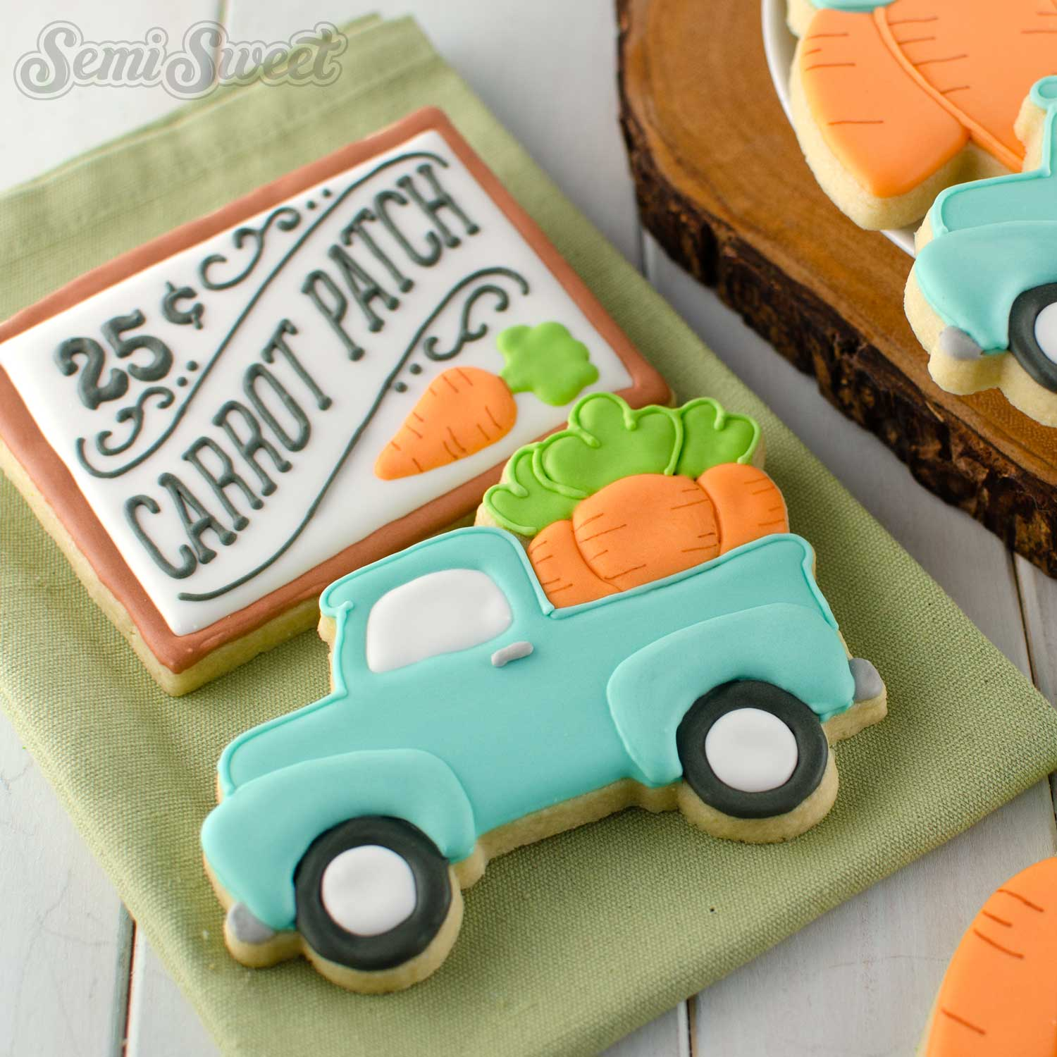 How to Make Easter Truck Cookies