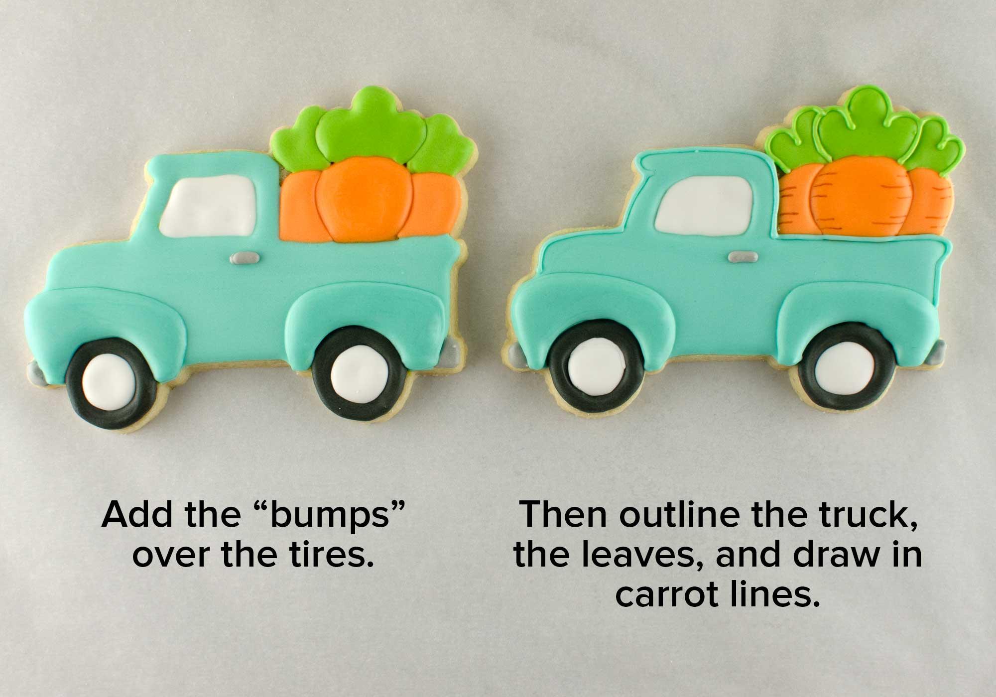Easter truck cookies step 4