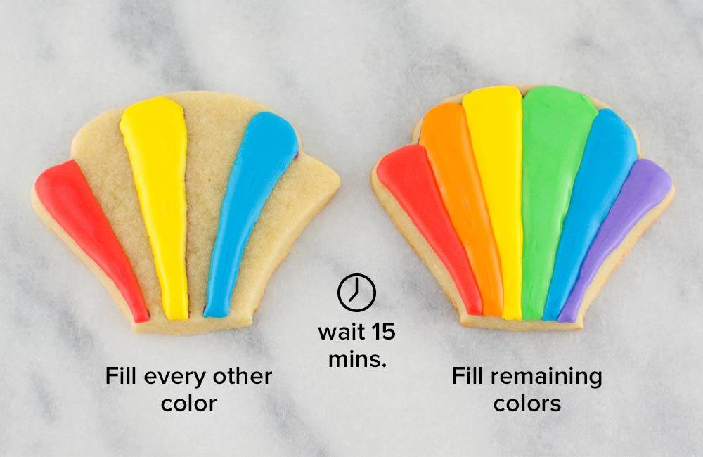 rainbow pot of gold cookies step 2