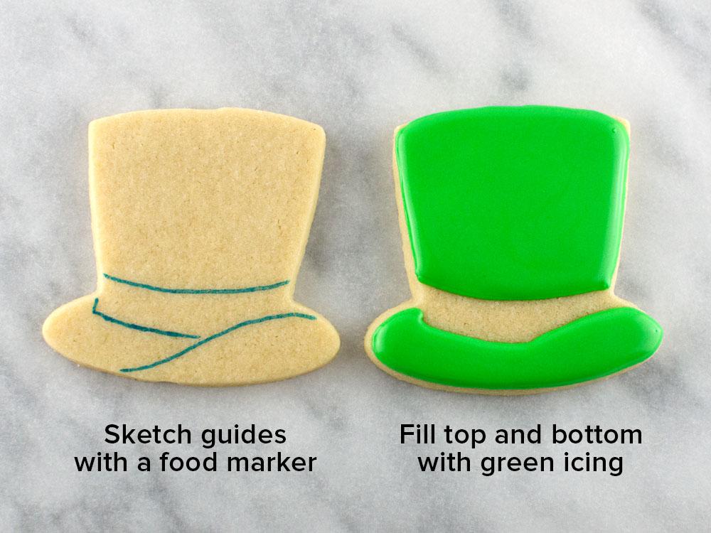 hat cookies step 1
