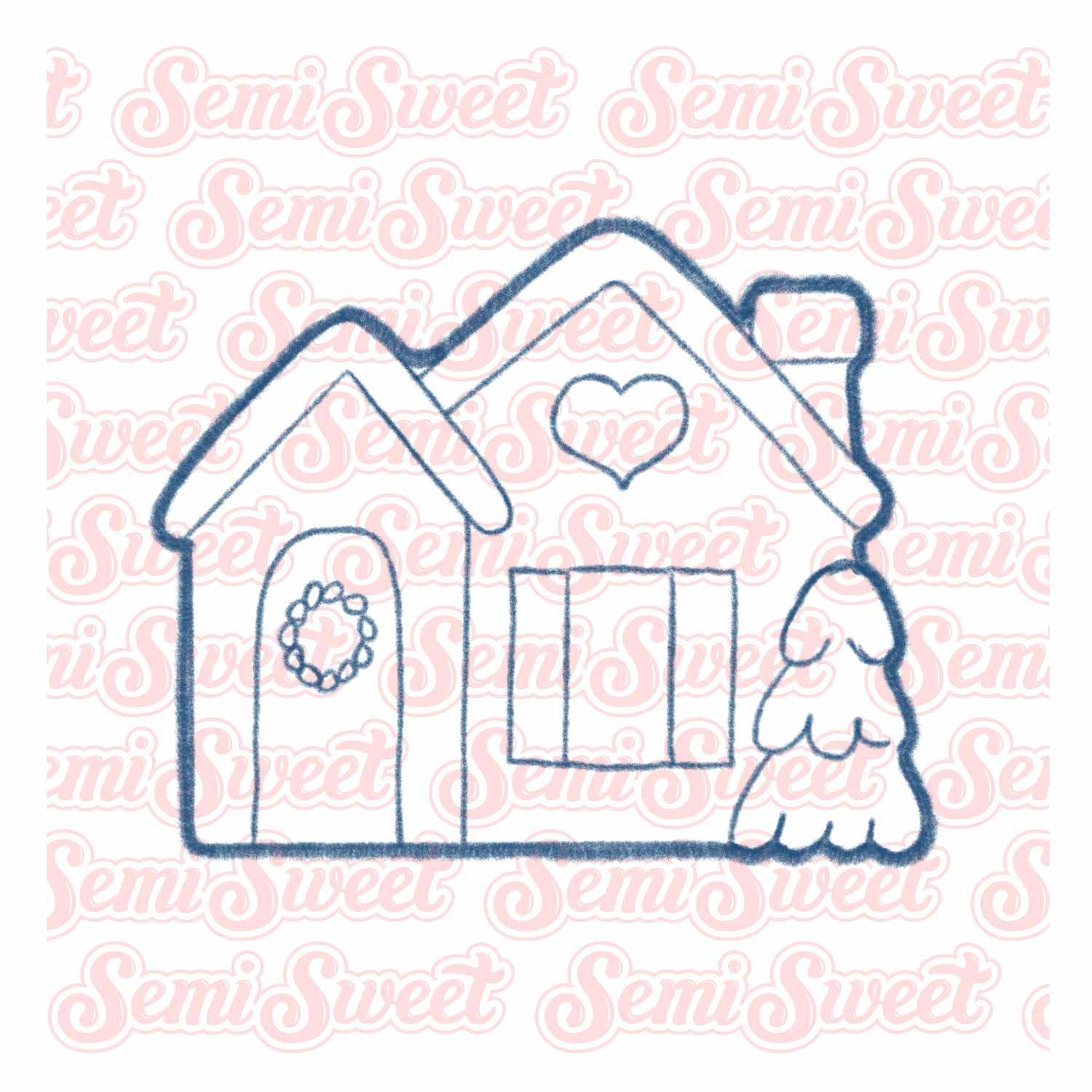 farmhouse cottage house cookie cutter