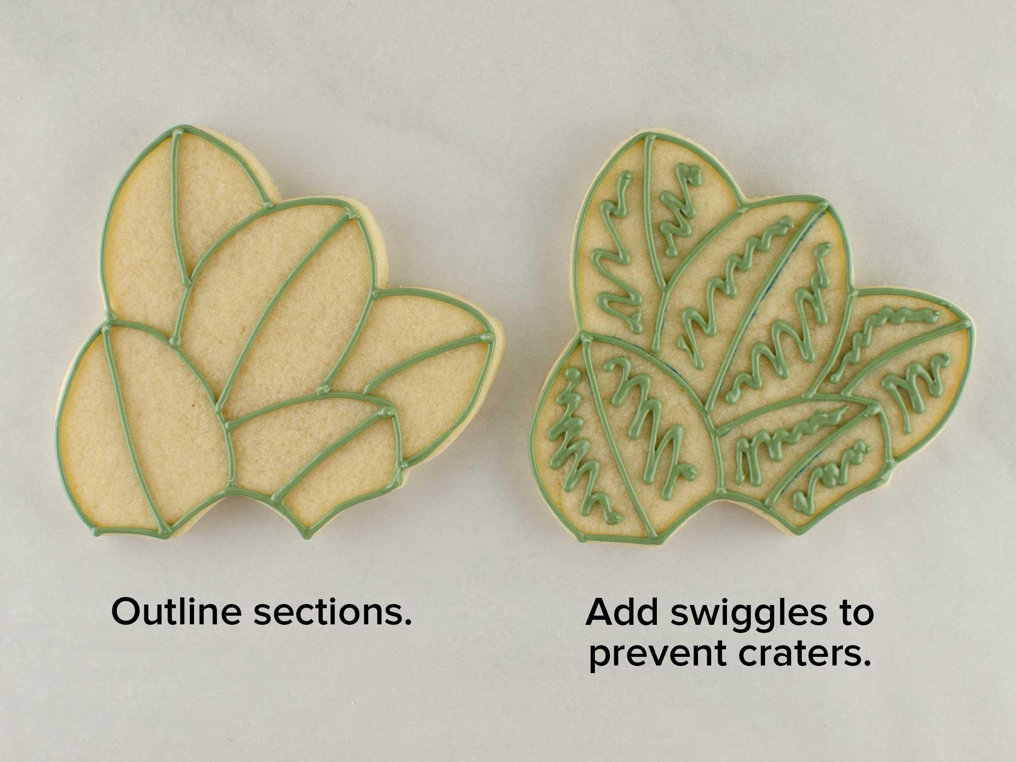 magnolia wreath cookie platter
