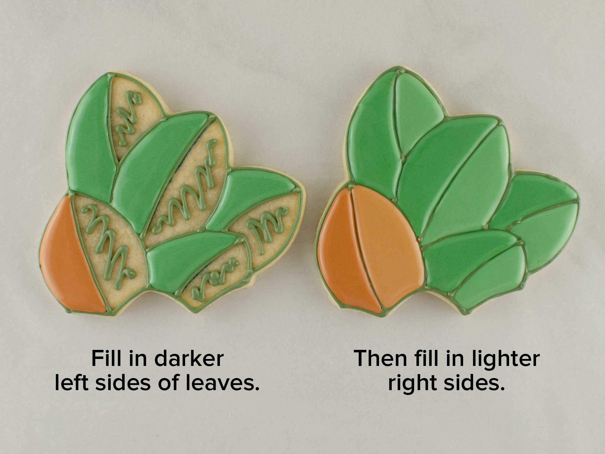 magnolia wreath cookie platter step 3