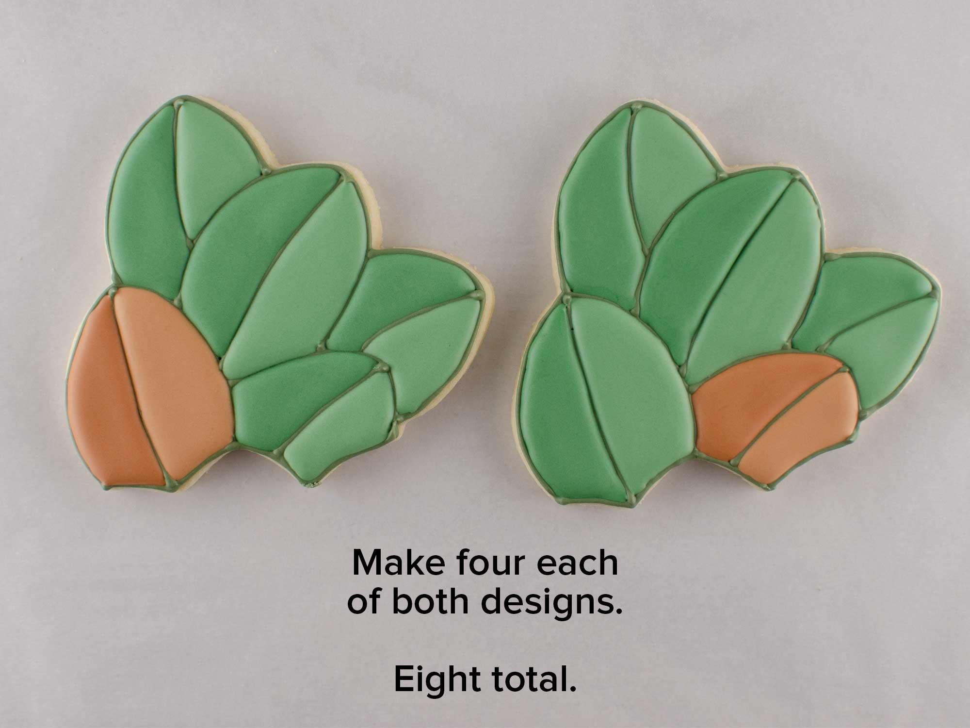 magnolia wreath cookie platter step 4
