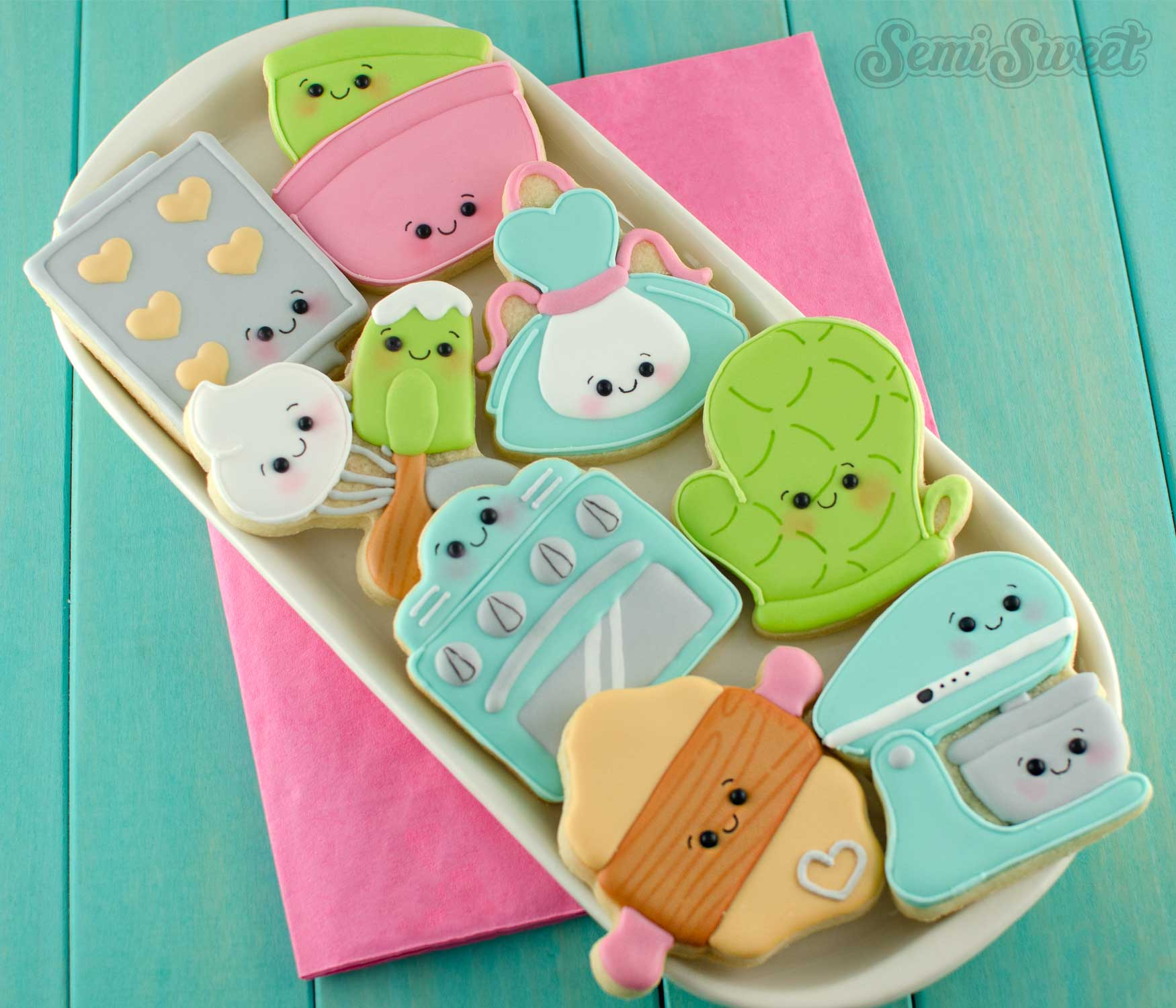 baking themed apron cookies