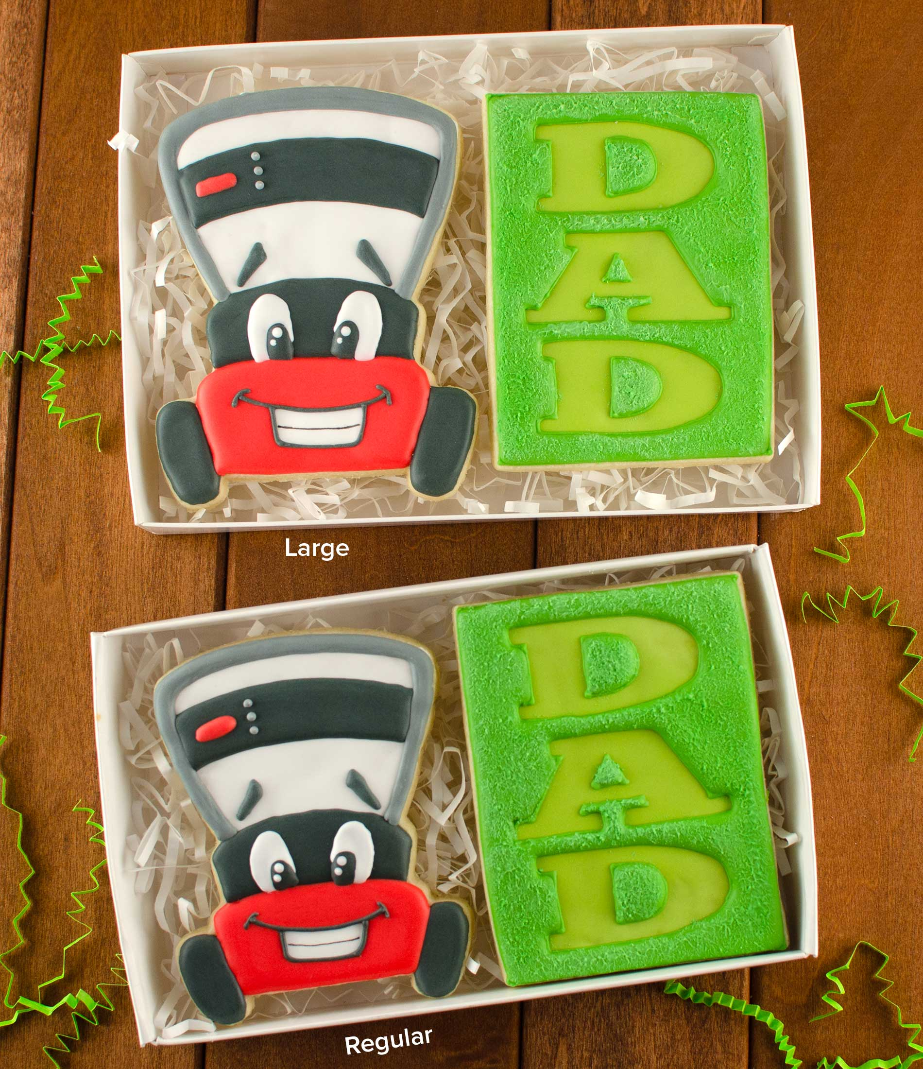 lawn mower cookies for Father's Day