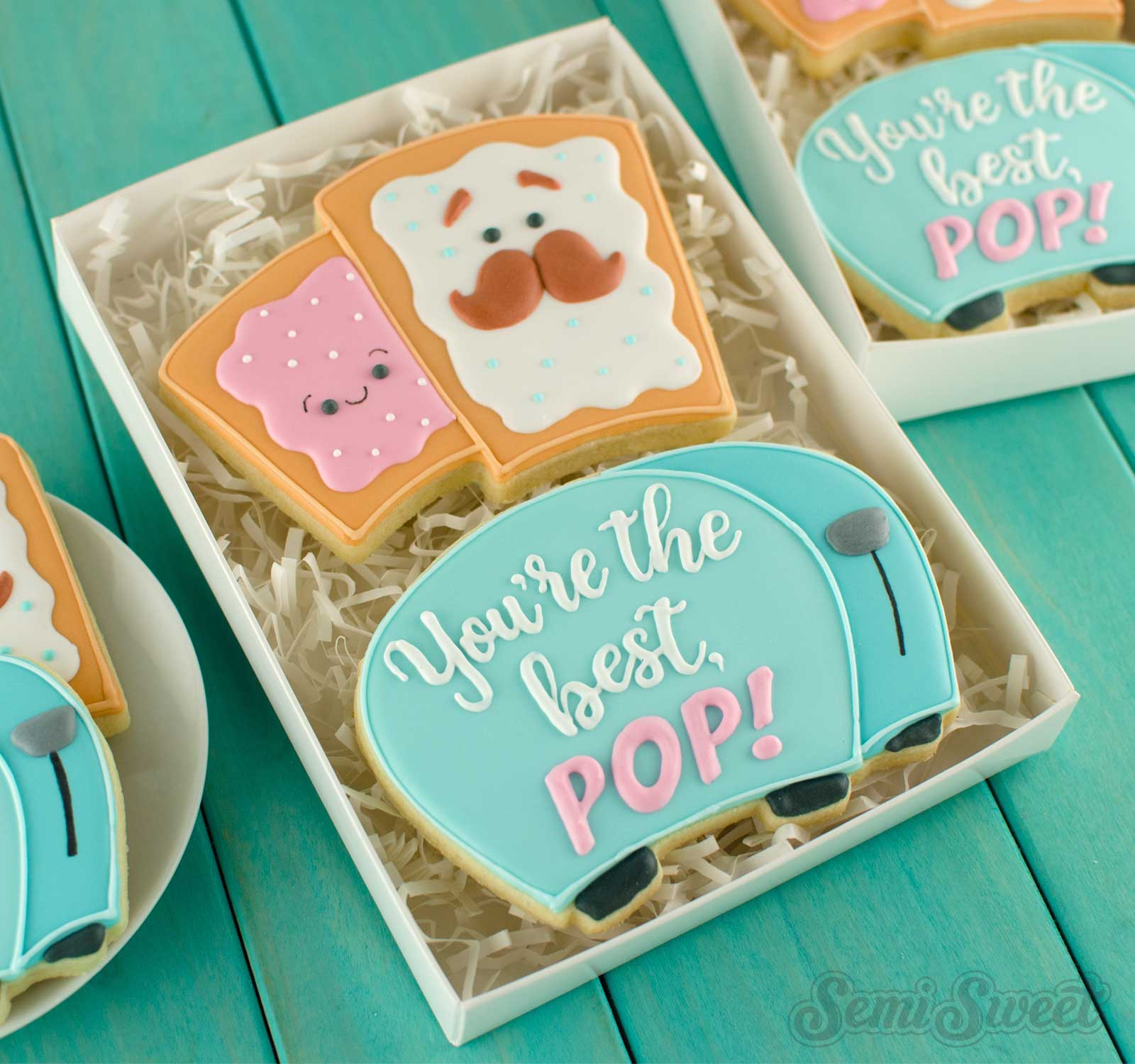 Father's Day pop tart and toaster cookies