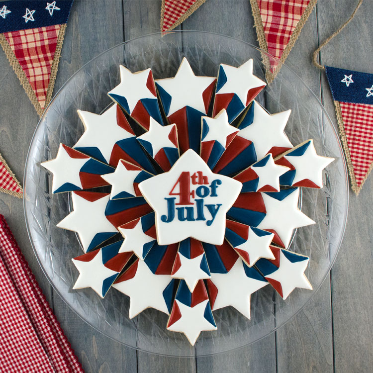 Patriotic Starburst Cookie Platter