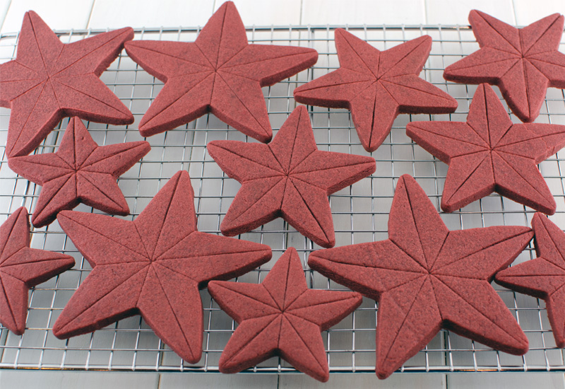 4th of July star cookies after baking