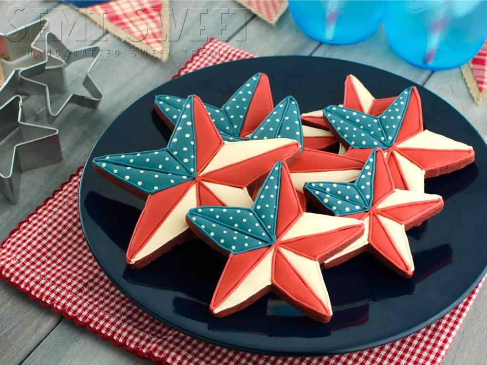 Patriotic Barn Star Cookies