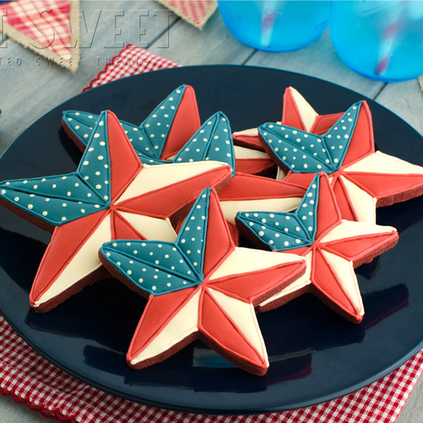 Patriotic Barn Star Cookies